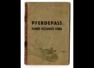 GG: Pferdepass Lublin/Pulawy/Wolka/Szczekarkow 1941 für Rappe