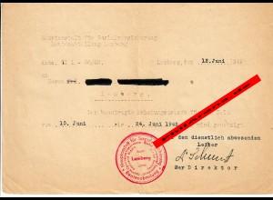 GG: Erholungsurlaub Lemberg 1942 für Angestellten der Rentenabteilung
