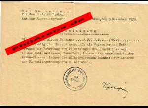 GG: Amt für Flüchtlingswesen Krakau, Schwester Rotes Kreuz, 9.11.1939