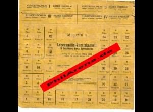 GG: Lebensmittel Zusatzkarte II, März 1943