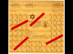 GG: Lebensmittelkarte November 1942, Tschenstochau: für jüdische Bewohner