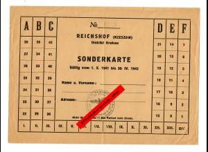 GG: Sonderkarte 1942 aus Reichshof/Krakau