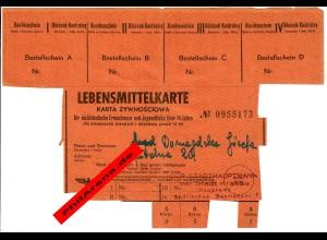 GG: Lebensmittelkarte Krakau für nichtdeutsche Erwachsene ab 14 Jahren