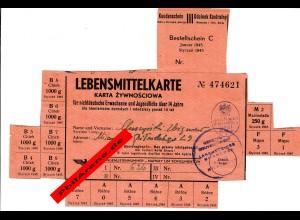 GG: Lebensmittelkarte für nichtdeutsche Kinder über 14 Jahre, 12/1943