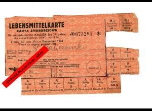 GG: Lebensmittelkarte für nichtdeutsche Kinder bis 14 Jahre, Rembertow: 12/1943