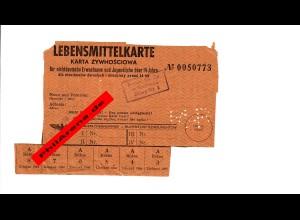 GG Lebensmittelkarte für nichtdeutsche Erwachsene und Kinder über 14 Jahre Radom