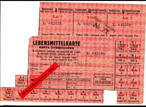 GG Lebensmittelkarte Lublin August 1944