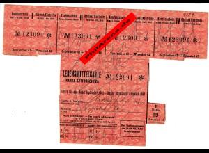 GG Lebensmittelkarte Krakau September 1944