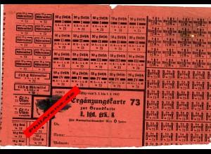 GG: Ergänzungskarte zur Grundkarte bis 1.4.1945, verwendet in Polen 1949