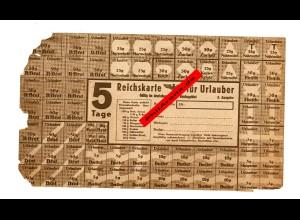 GG: Reichskarte Urlauberkarte für 5 Tage