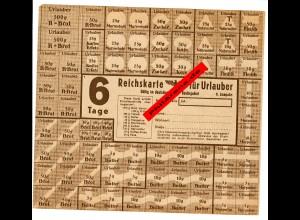 GG: Reichskarte Urlauberkarte für 6 Tage