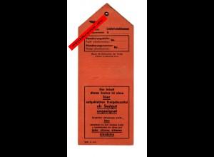 GG: Sack - Plombierungsstreifen Saatgutstelle Landwirtschaftskammer 1941