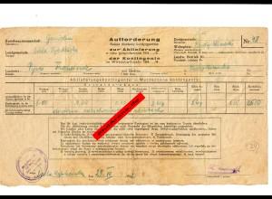 GG: Aufforderung zur Abliefung der Kontingente Wola Rybkowska. Gerste 1942