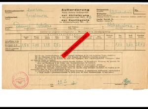 GG: Aufforderung zur Abliefung der Kontingente Korabiewice/Lowicz 1942
