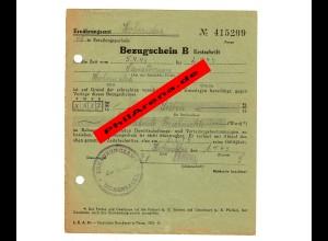 GG Bezugsschein für 7 Liter entrahmte Frischmilch für Sanatorium Hohensalza 1943