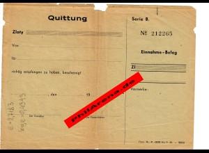 GG: Quittung Beleg, Generalgouvernement 1943