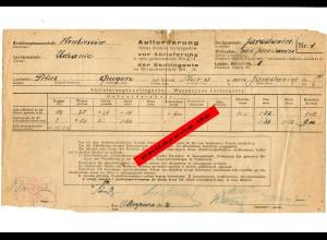 GG: Aufforderung zur Abliefung der Kontingente Ocnanie/Krubieszow/Uchanie 1942