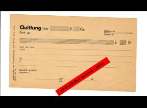 GG: Blanko Quittungsbeleg 1942