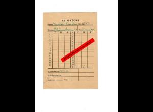 GG: Verpflegungskarte polnisches Künstlerheim, Dezember 1944: Heim Küche, Krakau