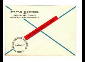 GG: Blanko Briefumschlag Staatliche Getreide- und Industriewerke Krakau
