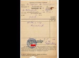 GG: Bestellzettel Ordnungspolizei Krakau für 48 Stk, Haushaltsseife 1940