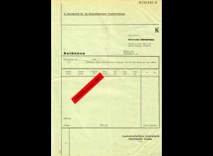 GG Rechnungsformular Getreide Abteilung Krakau Landwirtschaftliche Zentralstelle