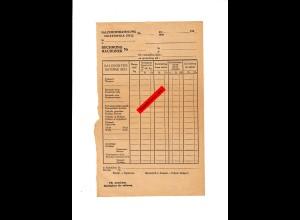 GG: Blanko Rechnungsformular Salzgrosshandlung 194x