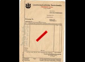 GG: Landwirtschaftliche Zentralstelle: Rechnungsformular Krakau
