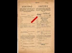 GG: Vertrag betreffs Lieferung von Zuckerrüben Przewosk 1944