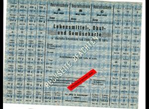 GG: Lebensmittel-, Obst- und Gemüsekarte für Deutsche über 10 Jahre, Mai 1943