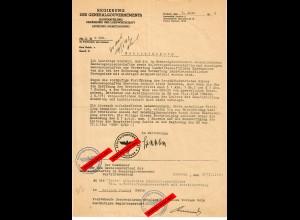 GG: Genehmigung Handels- Molkereigenossenschaft für Bokynka Panska 1942