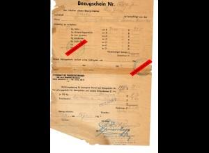 GG: Bezugschein für 72kg Hafer, Tarnow-Debica 1942