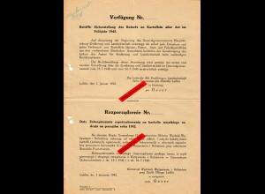 GG: Verfügung: Sicherstellung des Bedarfs an Kartoffeln: 1942, Lublin
