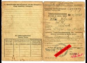 GG: GdM: Tabakanbaukonzession Busko/Czyzyny mit Eintragung Aufsichtsbeamter 1944