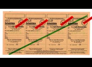 GG: Verkaufschein für je 5rm Laub-Generatorholz 1944