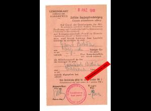 GG: Zeitliche Empfangsbescheinigung Korabiewice 1941