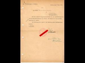 GG: Bestellung Landkommissar Mielec 1940: 5kg. Haushaltsseife