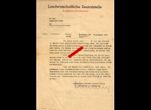 GG: Aufforderung zur Ablieferung Heu und Stroh 1944: Forderungen der Wehrmacht