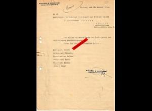 GG: Krakau 1944: Bescheinigung wegen Lebensmittelkarten für Mitarbeiter