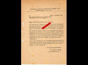 GG: Krakau 1944 : Information an Sicherungsberiebe: Lebensmittel lokal bestellen