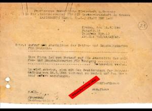 GG: Freigabe zum Verkauf von Seifen: Krakau August 1944