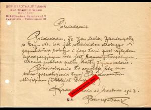 GG: Bescheinigung: Lebensmittelzusatzkarte 1942, Krakau