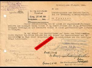 GG: Zuckerfabrik Rytwianynach Opatow: Abfallleder für Pferdegeschirr 1944