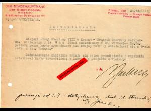 GG: Bescheinigung: Lebensmittelzusatzkarte September 1942, Krakau
