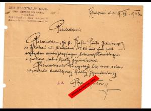 GG: Bescheinigung: Lebensmittelzusatzkarte Juni 1942, Krakau