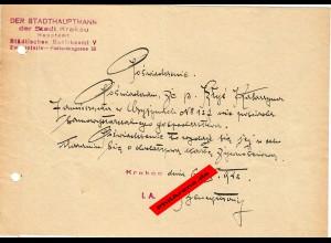 GG: Bescheinigung: Lebensmittelzusatzkarte Oktober 1942, Krakau