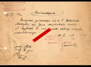 GG: Bescheinigung: Lebensmittelzusatzkarte November 1943, Krakau