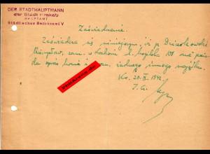 GG: Bescheinigung: Lebensmittelzusatzkarte 1942 im Oktober, Krakau