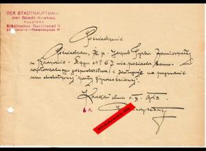 GG: Bescheinigung: Lebensmittelzusatzkarte Krakau, Oktober 1942