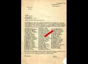 GG: Lebensmittelzusatzkarten II: 70x Rücksendung da Arbeiter nicht da waren 1942